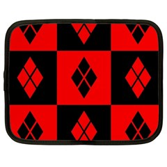 Red And Black Pattern Netbook Case (xl)