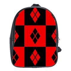 Red And Black Pattern School Bag (large)