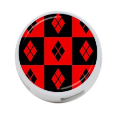 Red And Black Pattern 4 Port Usb Hub (one Side)