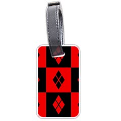 Red And Black Pattern Luggage Tags (two Sides) by Samandel