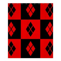 Red And Black Pattern Shower Curtain 60  X 72  (medium)