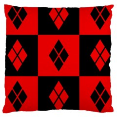 Red And Black Pattern Large Cushion Case (two Sides)