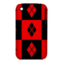 Red And Black Pattern Iphone 3s/3gs