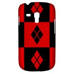 Red And Black Pattern Galaxy S3 Mini