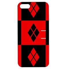 Red And Black Pattern Apple Iphone 5 Hardshell Case With Stand