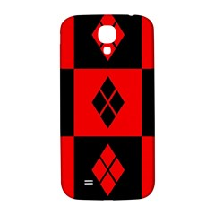 Red And Black Pattern Samsung Galaxy S4 I9500/i9505  Hardshell Back Case