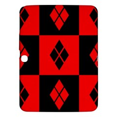 Red And Black Pattern Samsung Galaxy Tab 3 (10 1 ) P5200 Hardshell Case  by Samandel