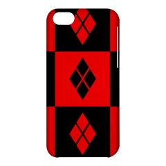 Red And Black Pattern Apple Iphone 5c Hardshell Case