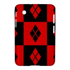Red And Black Pattern Samsung Galaxy Tab 2 (7 ) P3100 Hardshell Case