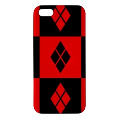 Red And Black Pattern Iphone 5s/ Se Premium Hardshell Case