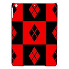 Red And Black Pattern Ipad Air Hardshell Cases