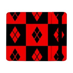 Red And Black Pattern Samsung Galaxy Tab Pro 8 4  Flip Case