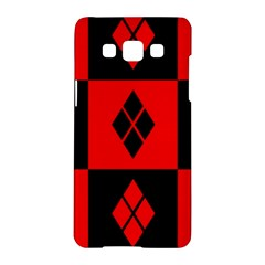 Red And Black Pattern Samsung Galaxy A5 Hardshell Case