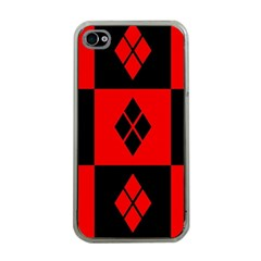 Harley Quinn Pattern Apple Iphone 4 Case (clear)