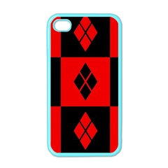 Harley Quinn Pattern Apple Iphone 4 Case (color)