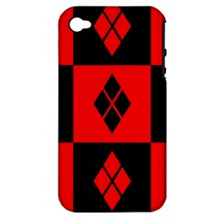Harley Quinn Pattern Apple Iphone 4/4s Hardshell Case (pc+silicone)