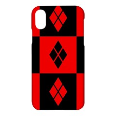 Harley Quinn Pattern Apple Iphone X Hardshell Case