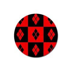Harley Quinn Pattern Magnet 3  (round)