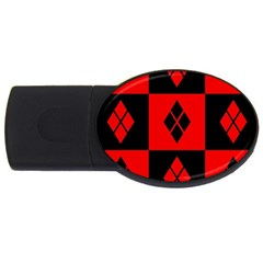 Harley Quinn Pattern Usb Flash Drive Oval (4 Gb)