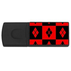 Harley Quinn Pattern Rectangular Usb Flash Drive