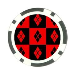 Harley Quinn Pattern Poker Chip Card Guard