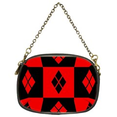 Harley Quinn Pattern Chain Purses (one Side)