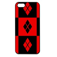 Harley Quinn Pattern Apple Iphone 5 Seamless Case (black)