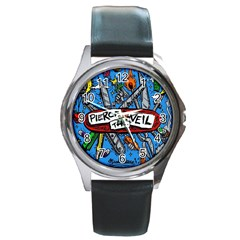 Album Cover Pierce The Veil Misadventures Round Metal Watch