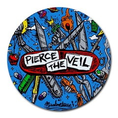 Album Cover Pierce The Veil Misadventures Round Mousepads