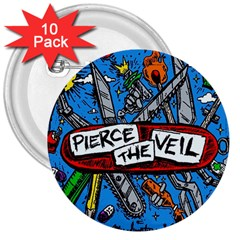 Album Cover Pierce The Veil Misadventures 3  Buttons (10 Pack)  by Samandel
