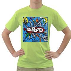 Album Cover Pierce The Veil Misadventures Green T Shirt