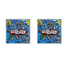 Album Cover Pierce The Veil Misadventures Cufflinks (square)