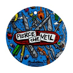 Album Cover Pierce The Veil Misadventures Round Ornament (two Sides) by Samandel