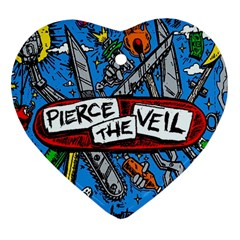 Album Cover Pierce The Veil Misadventures Heart Ornament (two Sides)