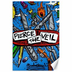 Album Cover Pierce The Veil Misadventures Canvas 24  X 36