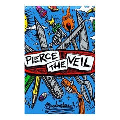 Album Cover Pierce The Veil Misadventures Shower Curtain 48  X 72  (small)  by Samandel