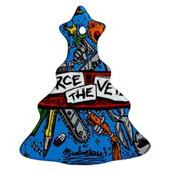 Album Cover Pierce The Veil Misadventures Christmas Tree Ornament (two Sides)
