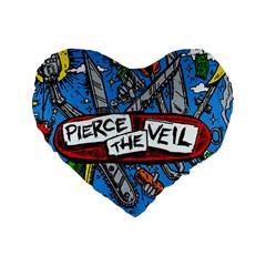 Album Cover Pierce The Veil Misadventures Standard 16  Premium Heart Shape Cushions