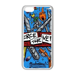 Album Cover Pierce The Veil Misadventures Apple Iphone 5c Seamless Case (white) by Samandel