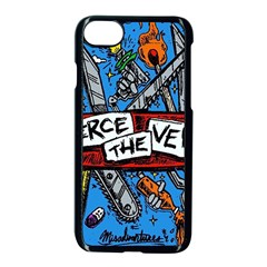 Album Cover Pierce The Veil Misadventures Apple Iphone 8 Seamless Case (black) by Samandel