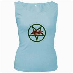 Anthrax Band Logo Women s Baby Blue Tank Top