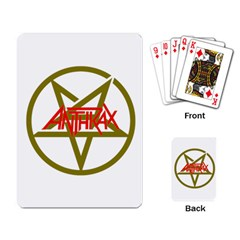 Anthrax Band Logo Playing Card