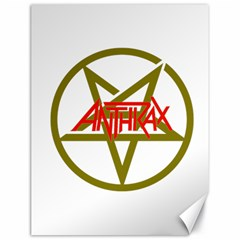 Anthrax Band Logo Canvas 18  X 24