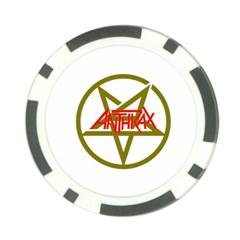 Anthrax Band Logo Poker Chip Card Guard (10 Pack)