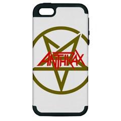 Anthrax Band Logo Apple Iphone 5 Hardshell Case (pc+silicone) by Samandel