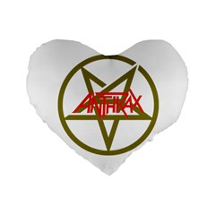 Anthrax Band Logo Standard 16  Premium Flano Heart Shape Cushions