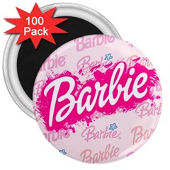 Barbie Pattern 3  Magnets (100 Pack)