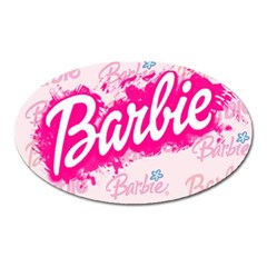 Barbie Pattern Oval Magnet
