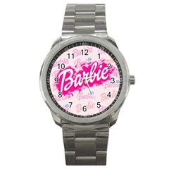 Barbie Pattern Sport Metal Watch