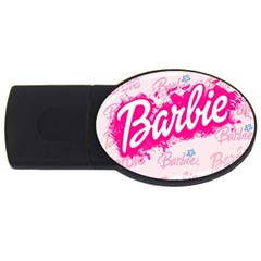 Barbie Pattern Usb Flash Drive Oval (4 Gb)